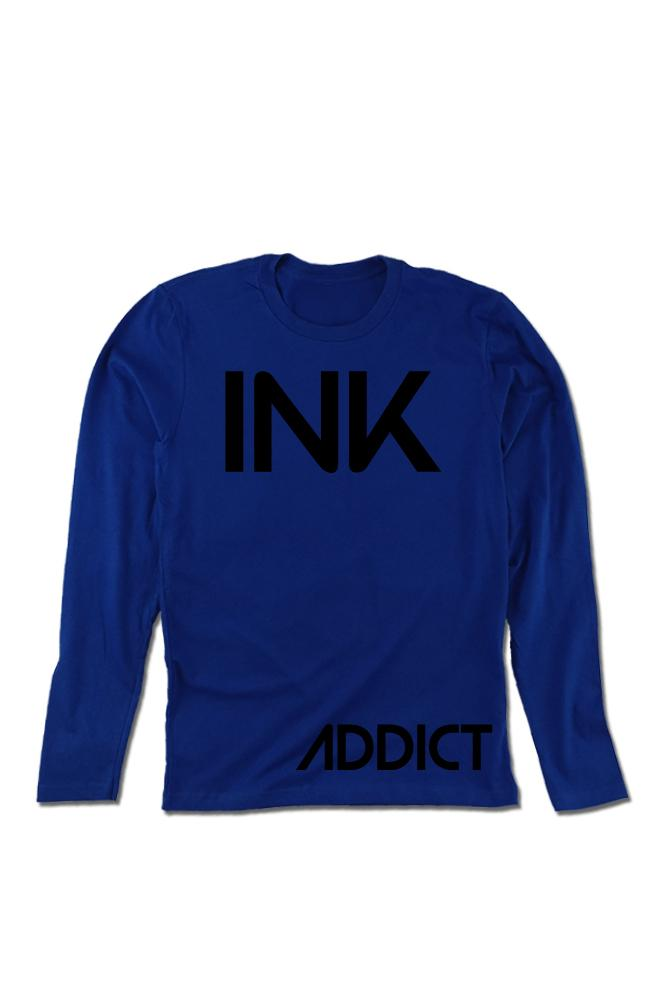 INK Men's Royal Blue Long Sleeve Tee