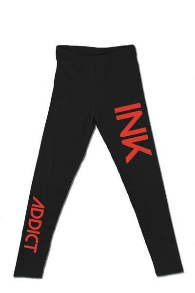 Red INK Black Leggings
