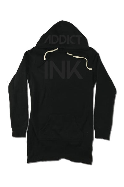 INK Women's Black Collection Hoodie Dress