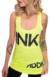 INK Women's Neon Yellow Tank