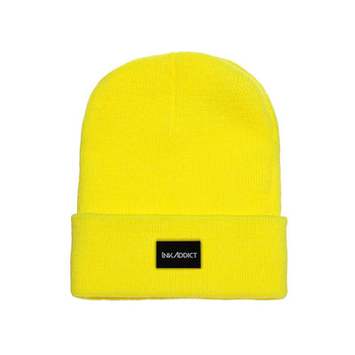 InkAddict Staple Beanie Safety Yellow