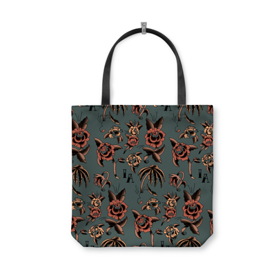 InkAddict Dead Rose Tote Bag