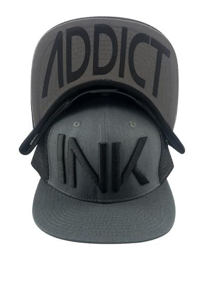INK Charcoal/Black Flat Bill Trucker