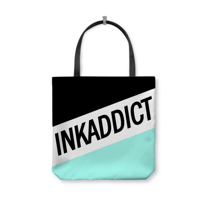 InkAddict Stripe Mint Tote Bag