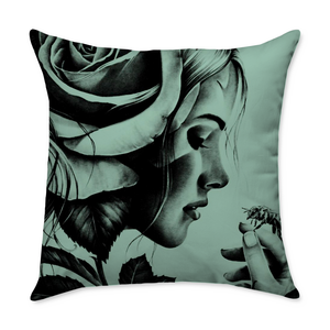 Jensen Girl Throw Pillow