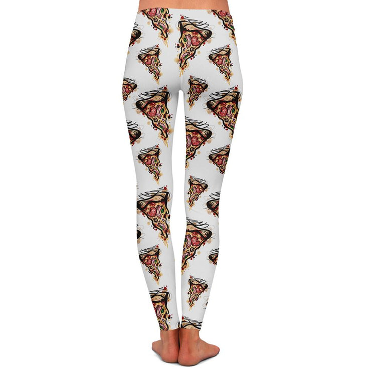 Kristel Pizza Womens Premium Leggings