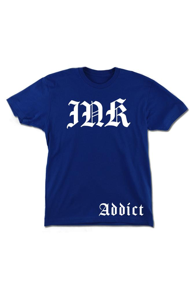 INK Lettering Men's Royal Blue Tee