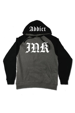 INK Lettering Gunmetal Heather / Black Men's Raglan Pullover