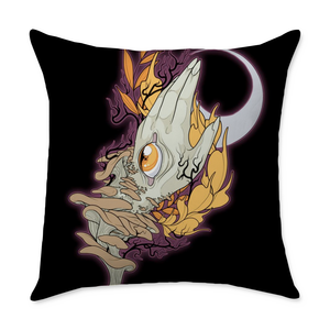 Luna Hand Square Throw Pillow