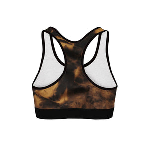 Mike Cann Trippy Frog Womens Sports Bra
