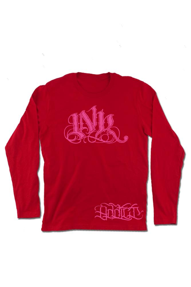 INK Meas Men's Red Long Sleeve Tee
