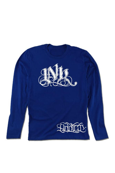 INK Meas Men's Royal Blue Long Sleeve Tee