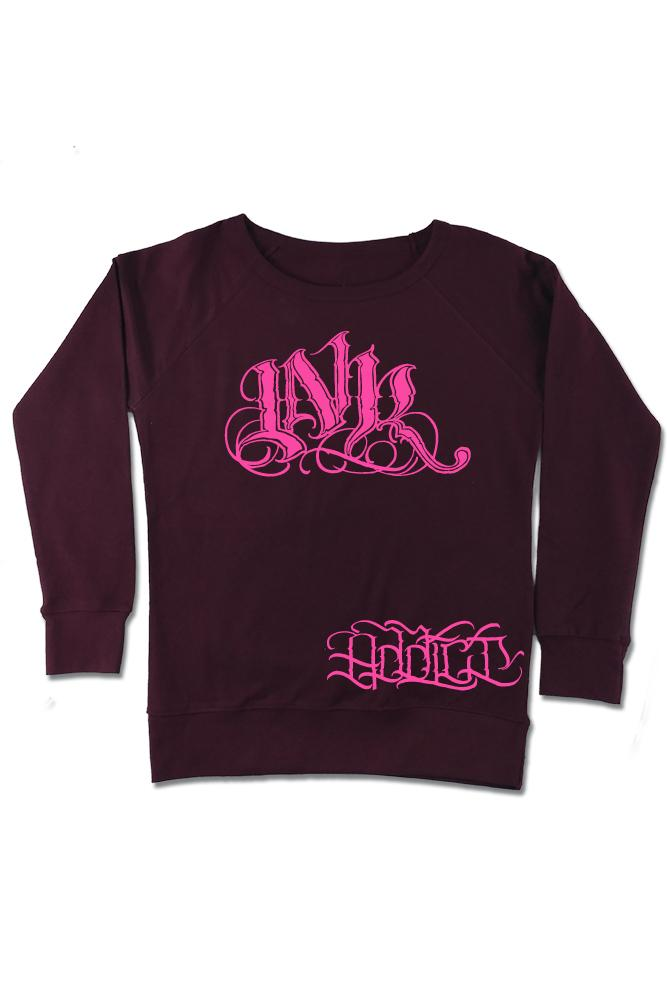 INK Meas Women's Blackberry Crew Sweatshirt