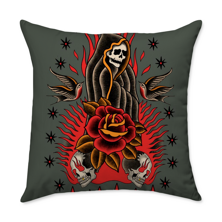 Monkey Death Square Throw Pillow