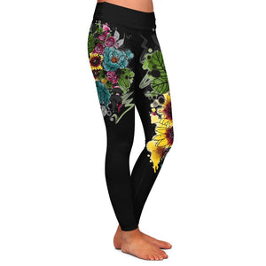 Kristel Flowers Womens Premium Leggings