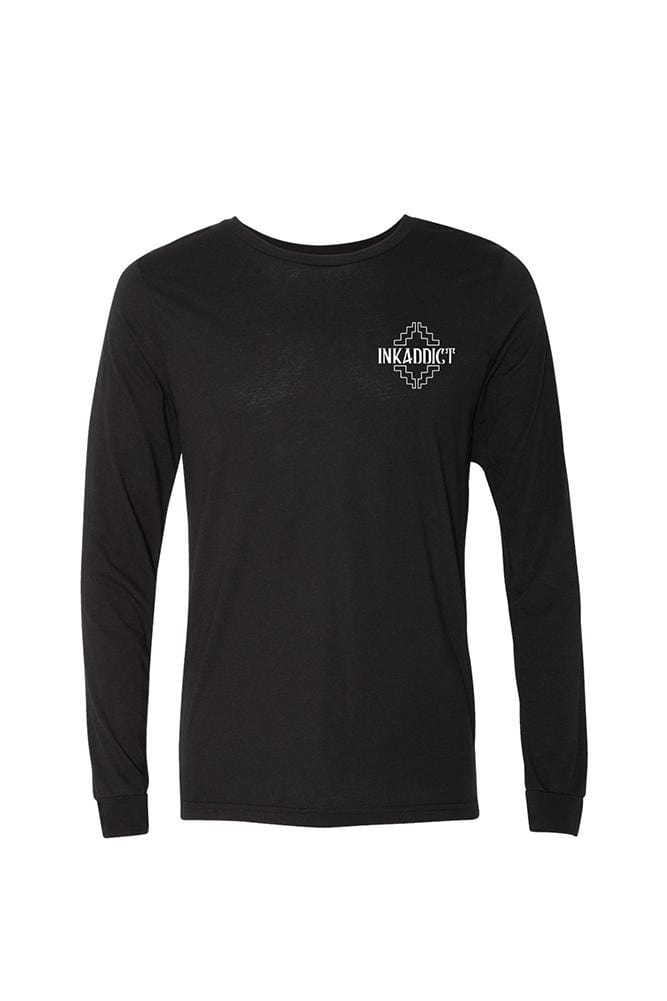 Campbell Western Mens Black Long Sleeve Tee
