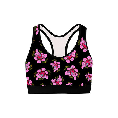 Travis Flowers Womens Sports Bra