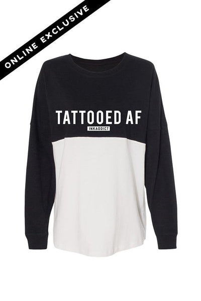 Tattooed AF Black/White Game Day Jersey T-Shirt
