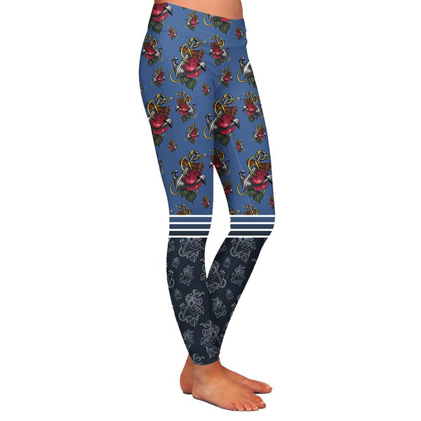 Timmy B Anchor Womens Premium Leggings