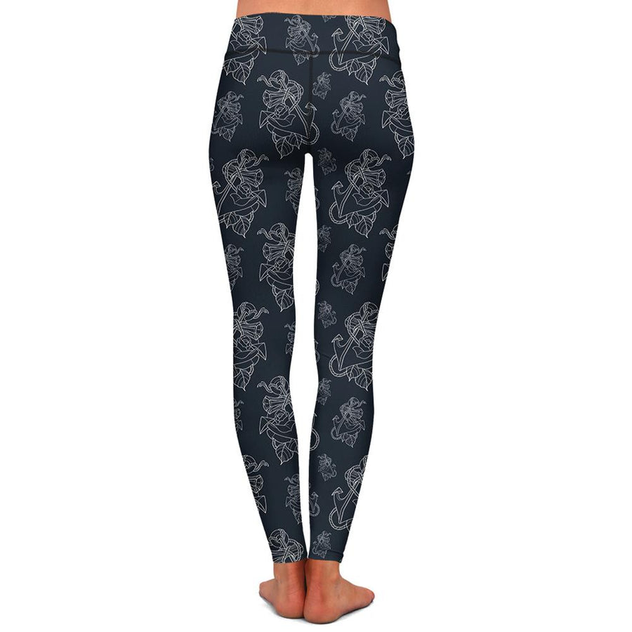 Timmy B Anchor Outline Womens Premium Leggings
