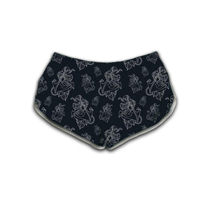 Timmy B Anchor Outline Womens Retro Shorts