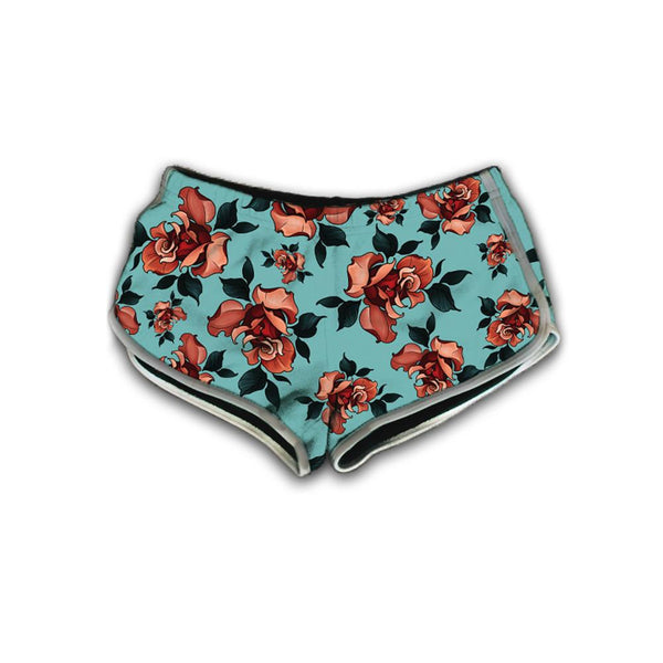 Timmy B Roses Womens Retro Shorts