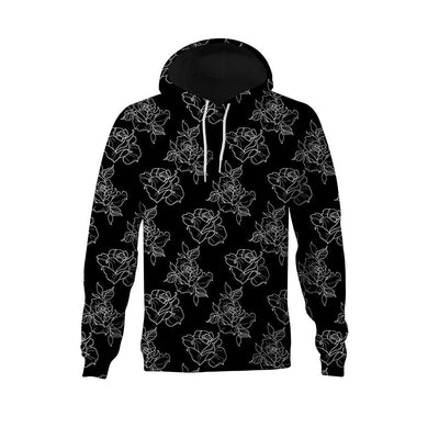 Timmy B Rose Outline Unisex Pullover Hoodie