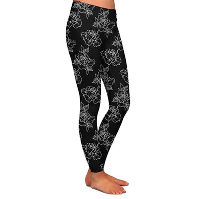 Timmy B Rose Outline Womens Premium Leggings