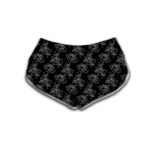 Timmy B Roses Outline Womens Retro Shorts