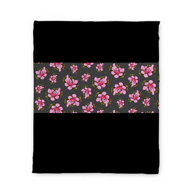 Travis Brown Flowers Fleece Blanket