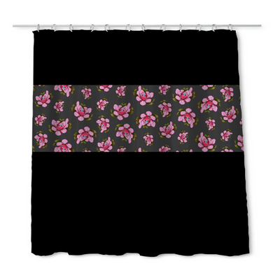 Travis Brown Flowers Shower Curtain