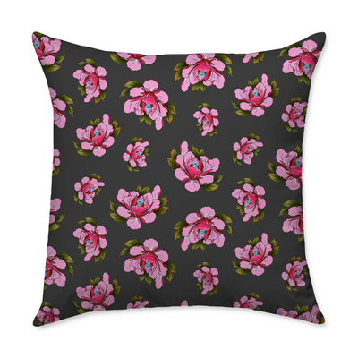 Travis Brown Flowers Square Throw Pillow