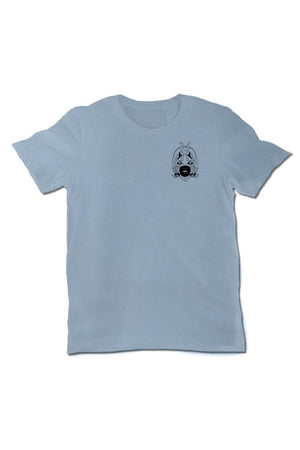 Don't Be Two Faced Mens Light Blue Tee