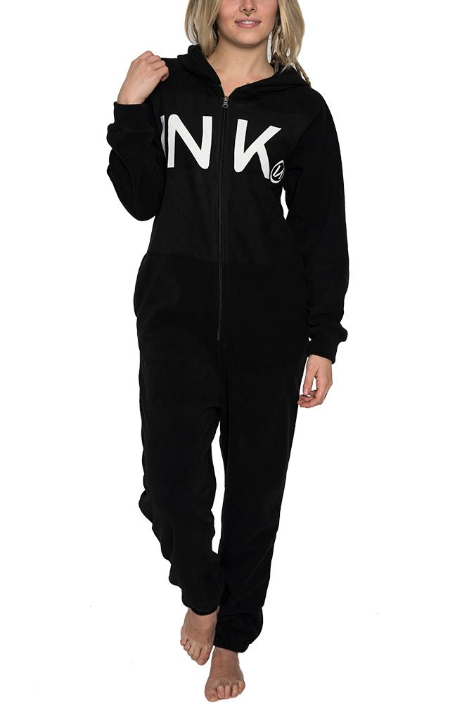 INK Unisex Black Fleece Lounger