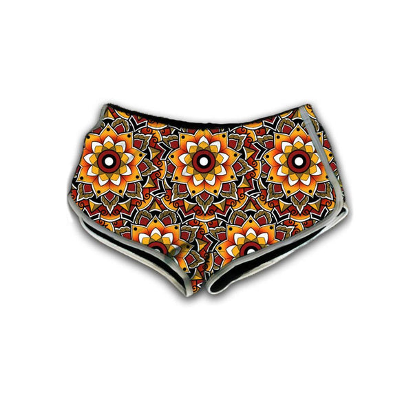 Woods Mandala Womens Retro Shorts