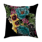 Kristel Flowers Square Throw Pillow