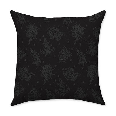 Fults Skulls Throw Pillow