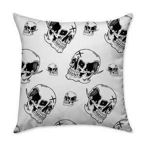 Emman Skull Throw Pillow