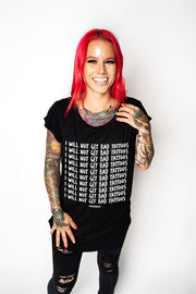 Bad Tattoos Cuffed Sleeve Tee