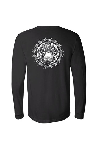 Barb Wire Men's Black Long Sleeve Tee