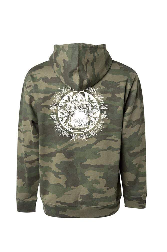 Barb Wire Men's Camo Pullover