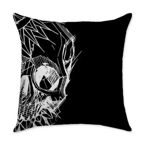 Mushaney Skull Square Throw Pillow