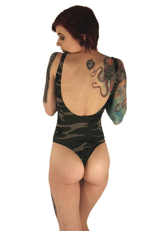 Tattooed As Fuck Women's Camo Bodysuit