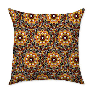 Woods Mandala Square Throw Pillow