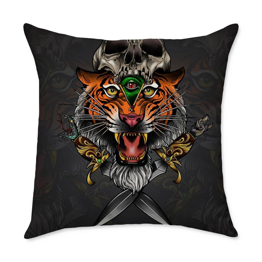 Parisi Tiger Square Throw Pillow