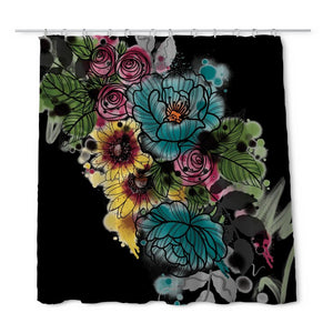 Kristel Flowers Shower Curtain