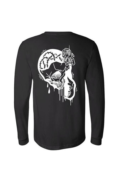 Dead Inside Men's Black Long Sleeve Tee
