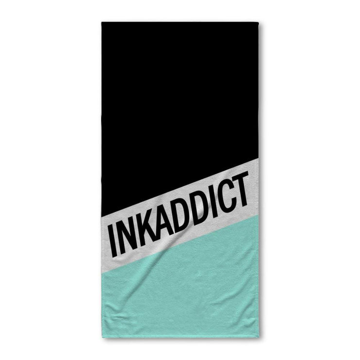 InkAddict Stripe Mint Bath Towel