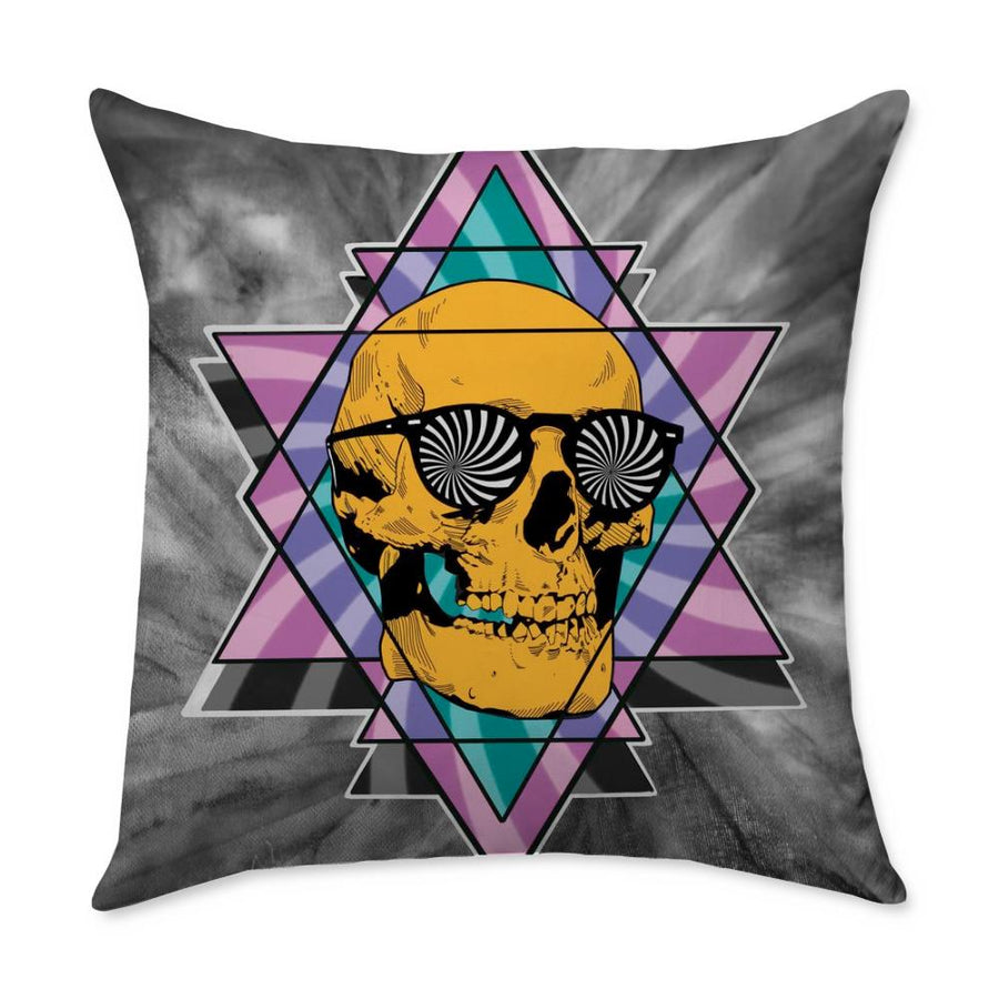 Geary Skull Throw Pillow