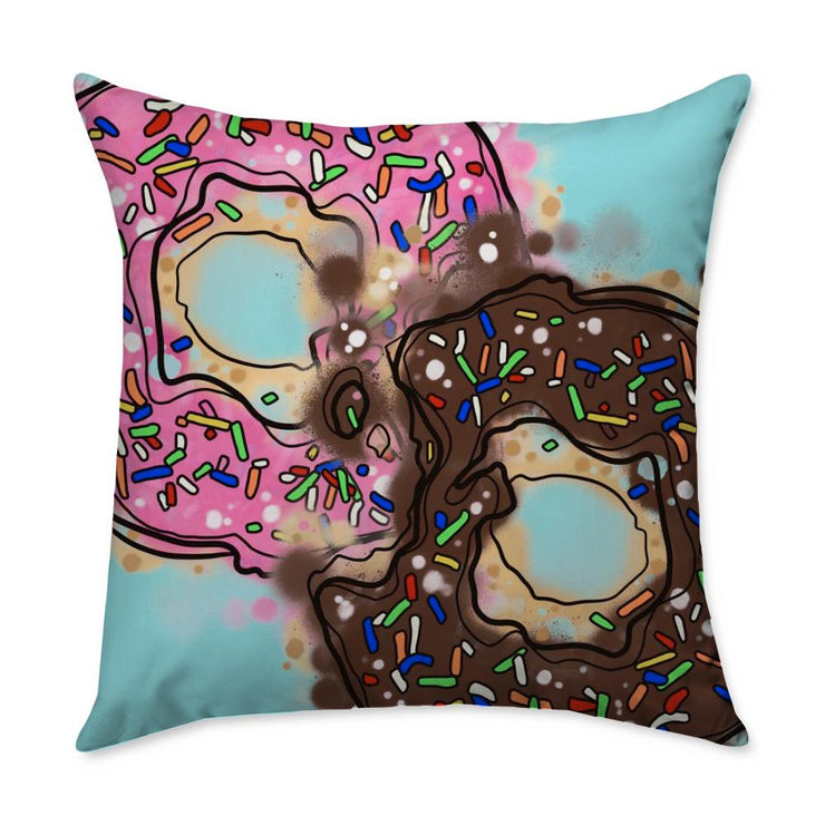 Kristel Donuts Square Throw Pillow
